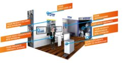 In the virtual exhibition, exhibitors present their products and prepare the perfect stage for customer contact.